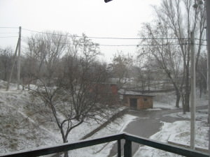 Погода 20 марта в городе Изюме преподнесла Сюрприз-2