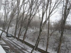 Погода 20 марта в городе Изюме преподнесла Сюрприз