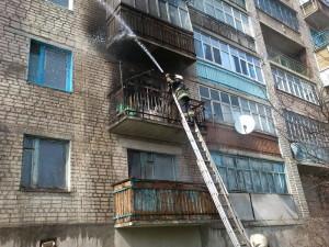 г. Изюм во время пожара спасена женщина-1