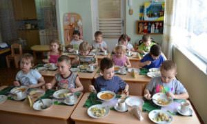 В летний период питание детей в дошкольных учебных заведениях города остается на прежнем уровне