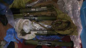 В Изюме СБУ обнаружила оружие и боеприпасы из района АТО