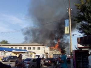 В городе Балаклее горел хлебзавод-1
