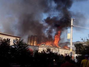 В городе Балаклее горел хлебзавод-2