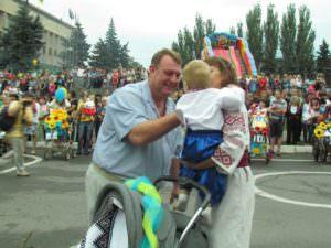 Изюмчани отпраздновали юбилейный 25 День Независимости Украины-11