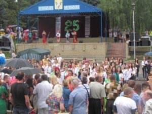 Изюмчани отпраздновали юбилейный 25 День Независимости Украины
