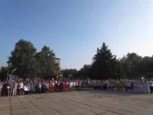 Изюмчани торжественно провели своего земляка Александра Єзика на Олимпийские игры в г. Рио-де-Жанейро-2