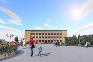 В городе Изюме реконструируют Центральную площадь города