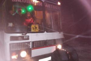 На Изюмщине автобус с пассажирами увяз в сугробах