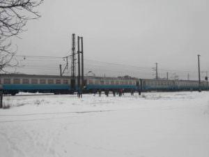 Под Харьковом на ходу загорелась электричка