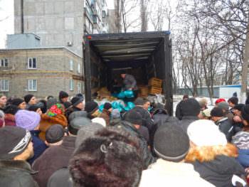 Городская власть Изюма направила гуманитарную помощь до Авдеевки