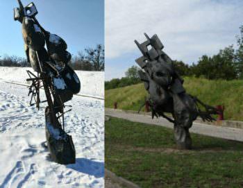 Памятный монумент «Начало войны» на горе Кремянец демонтировали для реставрации