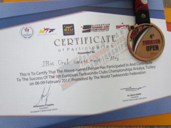 Руководство города Изюма поздравило юных спортсменов с победой на чемпионате Европы по тхэквондо
