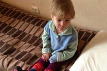 Найденный под Изюмом ребенок доставлен в Харьков