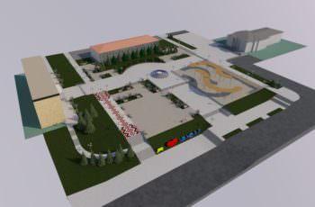 Как будет выглядеть центральная площадь города Изюма