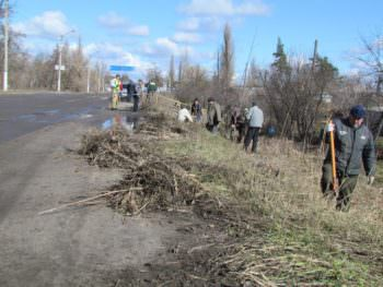 The Izyum was the first spring cleanup-2