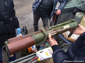 Workers Izyum police revealed a fact of illegal transportation of weapons and explosives (photos)-3