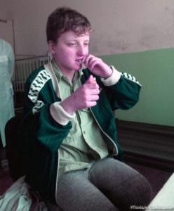 В городе Изюме 2 апреля нашли ребенок страдающего глухотой