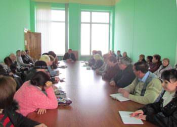 Городская власть Изюма провела совещание с председателями квартальных комитетов