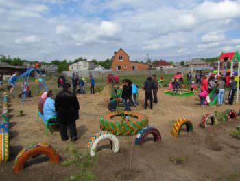 The Izyum on the Honcharivka opened a new Playground-1