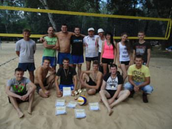 Соревнования по пляжному волейболу ко Дню молодежи в городе Изюме