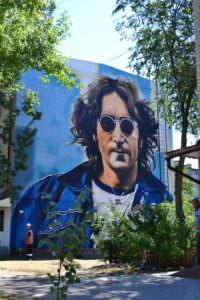 Мурал на площади Джона Леннона появился в городе Изюм