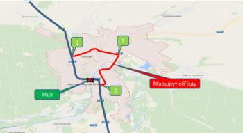 В Изюме в связи с проведением ремонтных работ на мосту через Северский Донец движение транспорта будет перекрыто