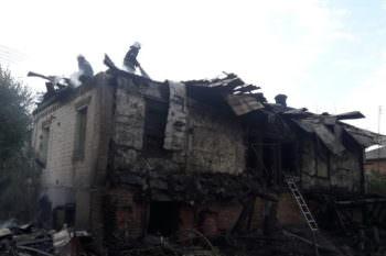 В городе Змиеве во время пожара погиб 69-летний мужчина