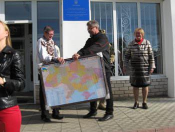 10 октября в Изюмском центре профессионального образования состоялась линейка ко Дню защитника Украины