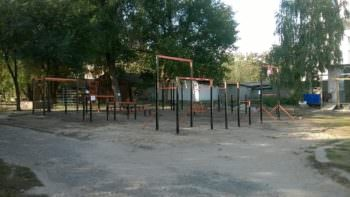 В центре города Изюма появилась спортивная площадка для Workout (воркаута)