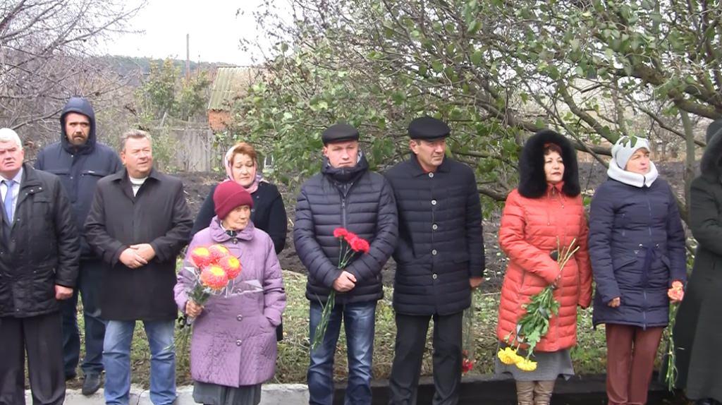 В селе Каменка Изюмского района состоялся торжественно-траурный митинг
