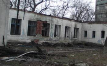В городе Изюме сгорело здание железнодорожной больницы в котором временно не работали