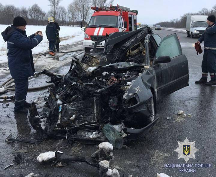 39-летний житель города Изюм пострадал в ДТП (Audi с фурой) а трое пассажиров погибло