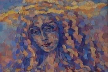 Наталья родом с города Изюма организовала выставку живописи и вышитых картин
