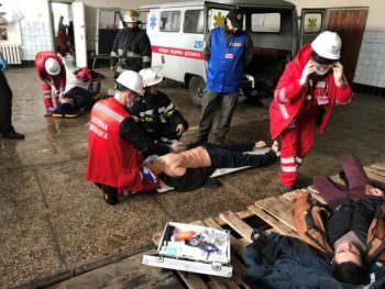 Тренировка Изюмских медиков экстренной помощи