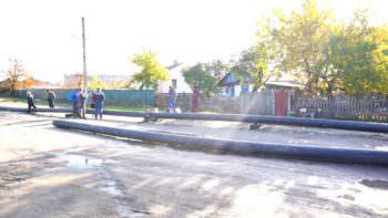 Проводиться замене водопроводана участке по ул. Надозерная