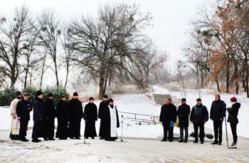 На горе «Кремянец» состоялась заупокойная лития по жертвам голодомора