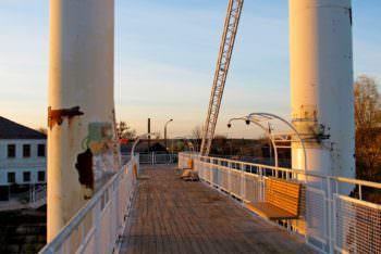 Фото капитального ремонта пешеходный моста на 2 ноября 2018 г