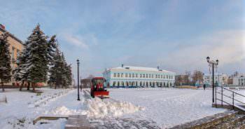 Первый снег в городе (фото) Изюм