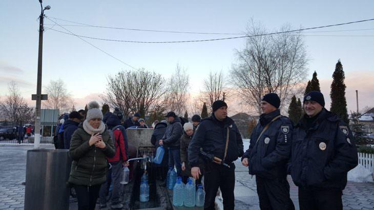 На Крещение работники полиции обеспечивали охрану правопорядка