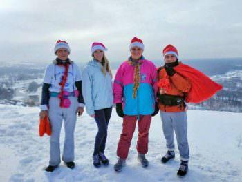 1 января Изюмские легкоатлеты совершили Новогодний забег
