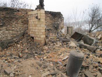 В результате пожара на Изюмщине погиб пожилой мужчина