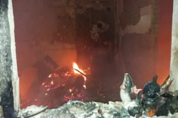 В Барвенково в пожаре погибло двое мужчин (фото)