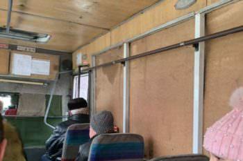 Под Харьковом на маршрут вышел необычный автобус (фото)