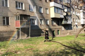 В Изюме горела квартира, всех жильцов подъезда было эвакуировано