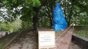 9 мая памятник «Скорбящая мать» будет находиться на реконструкции