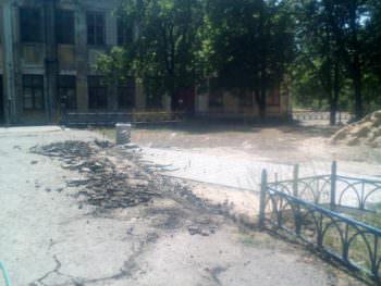 В парке Железнодорожник начались ремонтные работы