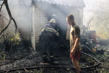 В селе Долгенькое сгорел дом