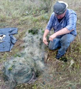 На реке Северский Донец поймали рыбного браконьера