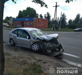Произошло лобовое столкновение машины изюмских сотрудников полиции с легковушкой «Ford»