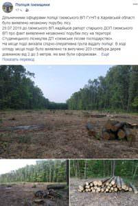Полиция Изюмщины остановила законную вырубку леса